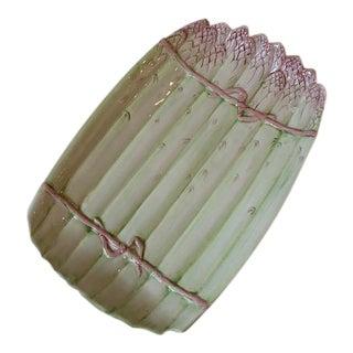 1980s Italian Porcelain Asparagus Dish For Sale