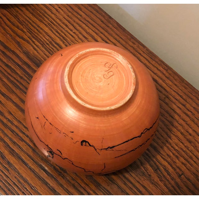 Mid 20th Century Vintage Horse Hair Pottery Cachepot For Sale - Image 5 of 6