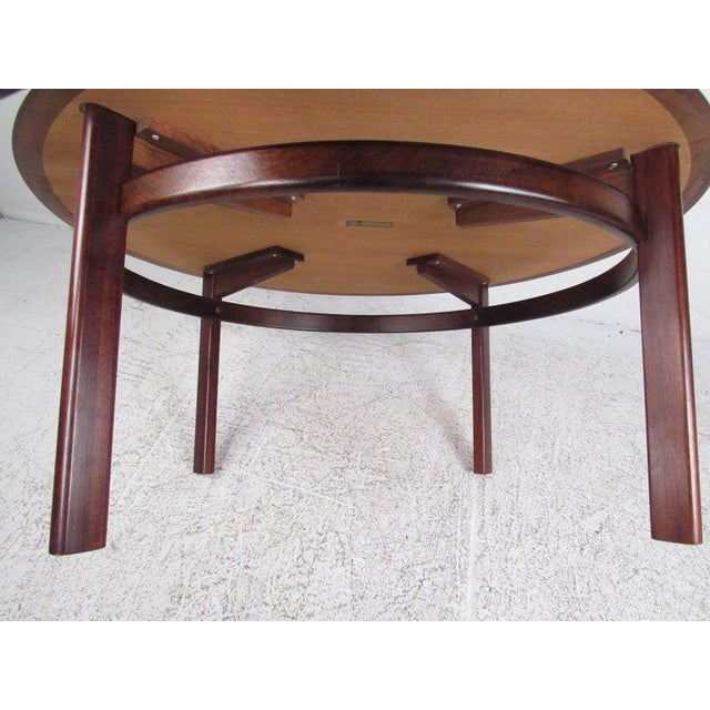 Vintage Scandinavian Rosewood Coffee Table by Haug Snekkeri for Bruksbo For Sale - Image 9 of 13