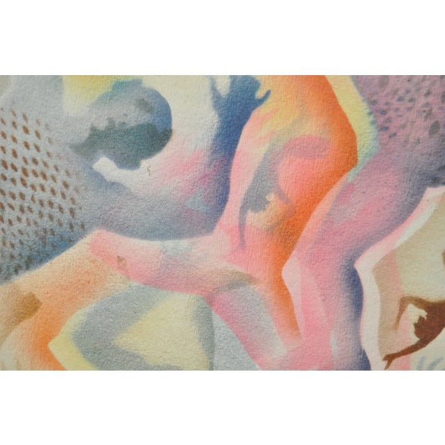 Mid-Century Modern Airbrush Painting by McBride For Sale - Image 9 of 11
