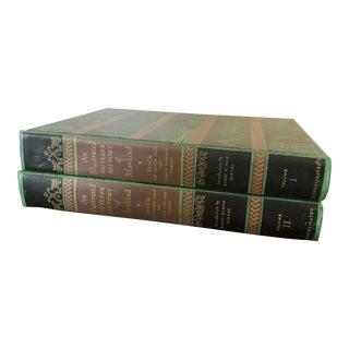 Vintage Illustrated Outline History of Mankind Books - Set of 2 For Sale