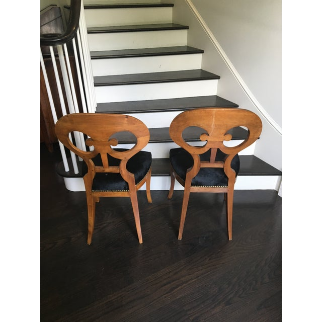 Late 19th Century Pair of 19th Century Biedermeier Chairs For Sale - Image 5 of 9