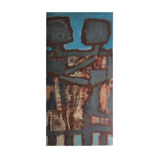 A Large Post War Oil on Panel
