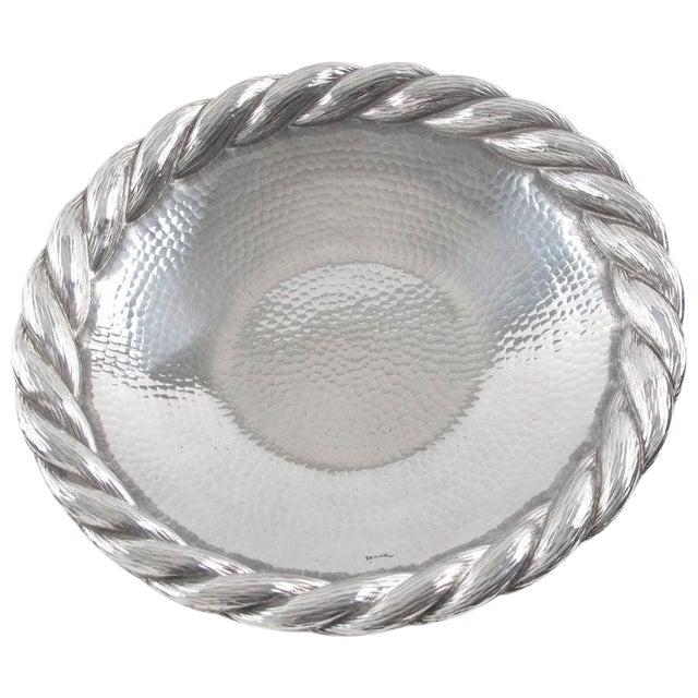 Irman France 1930s Art Deco Large Aluminum Platter or Serving Tray For Sale