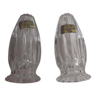 Mikasa Crystal Salt and Pepper Shaker For Sale