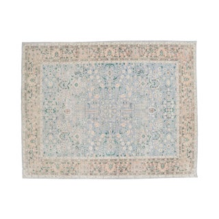 Vintage Transitional Multi Color Rug- 10′4″ × 13′10″ For Sale