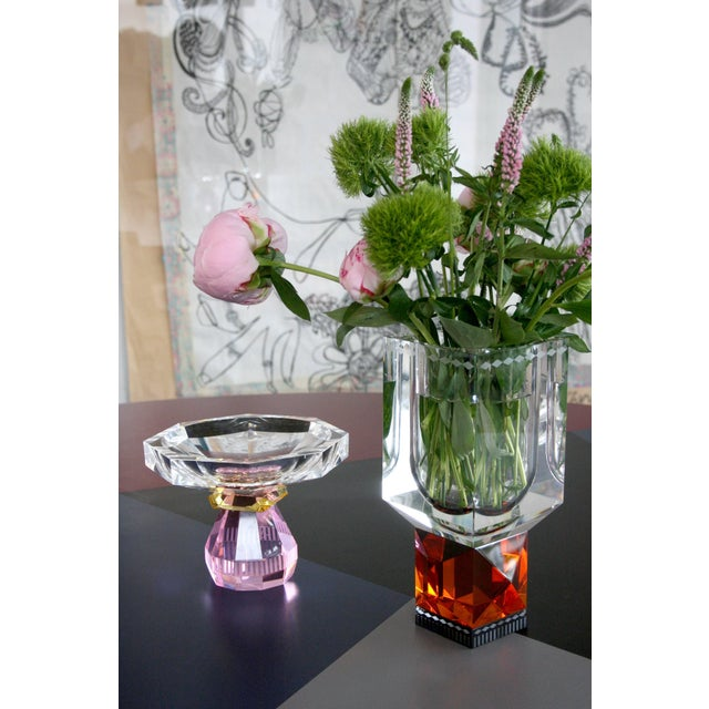 Reflections Copenhagen Madison Bowl, Hand-Sculpted Contemporary Crystal For Sale - Image 4 of 9