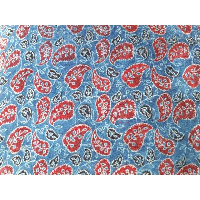 Asian Cotton Velvet Indian Design Pillows - Pair For Sale - Image 3 of 10