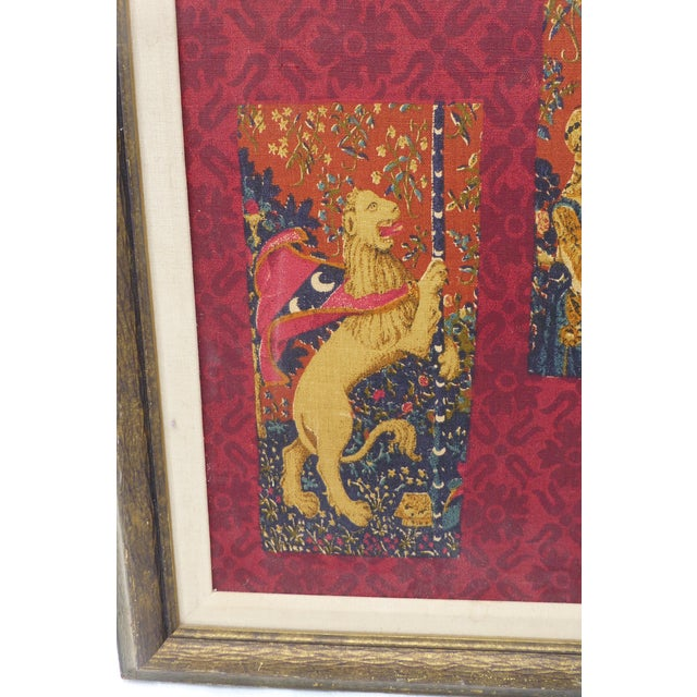 Fabric English Country Framed Tapestry - A Pair For Sale - Image 7 of 11