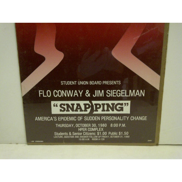 """1980 Vintage """"Snapping"""" Personality Change College Lecture Poster For Sale - Image 4 of 4"""
