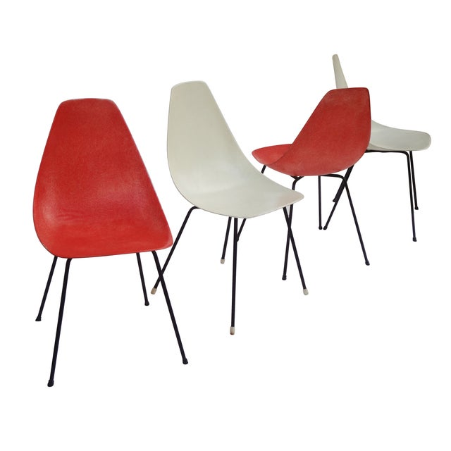 Vintage 1960s Fiberglass Shell Chairs - Set of 4 - Image 1 of 9