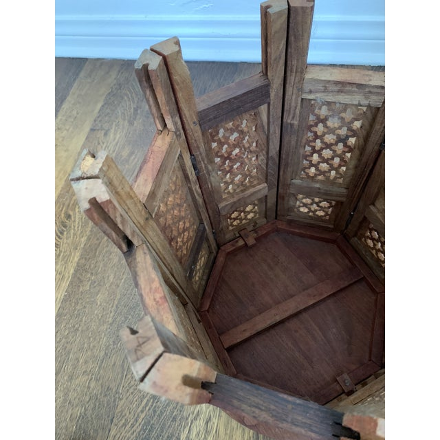 Moroccan Octagonal Side Table For Sale In Los Angeles - Image 6 of 7