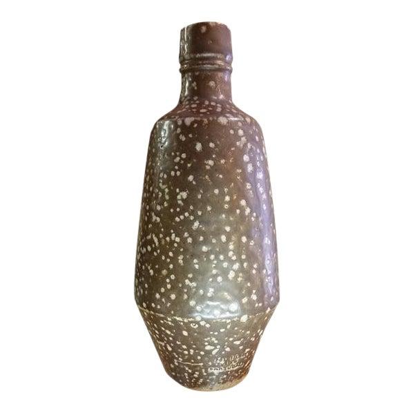 Portuguese Artisan Stoneware Bottle Vase For Sale