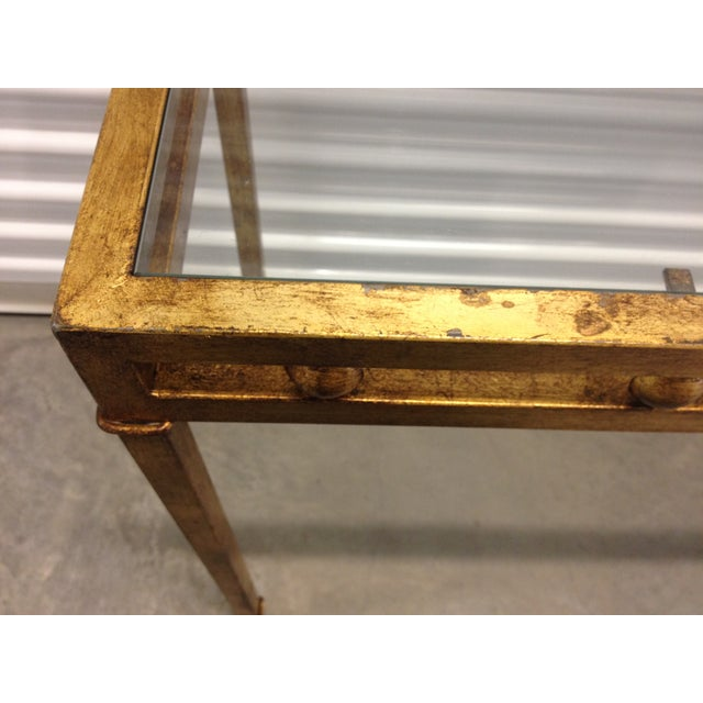 Vintage Gilt Metal Console Table - Image 5 of 5