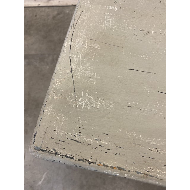 Swedish Painted Trestle Dining Table For Sale - Image 9 of 10