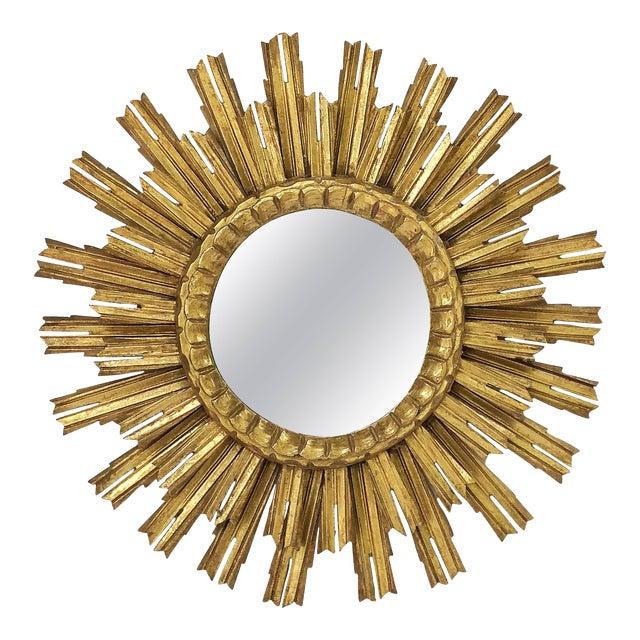 French Gilt Starburst or Sunburst Mirror (Diameter 25) For Sale