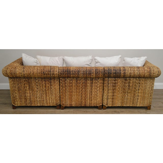Pottery Barn Pottery Barn Seagrass Sectional Sofa For Sale - Image 4 of 13