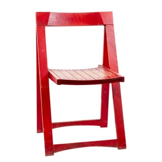Antique French Red Chair For Sale