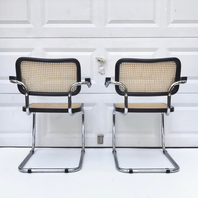 Late 20th Century Vintage Modern Cesca Style Dining Chairs- Set of 8 For Sale - Image 5 of 13
