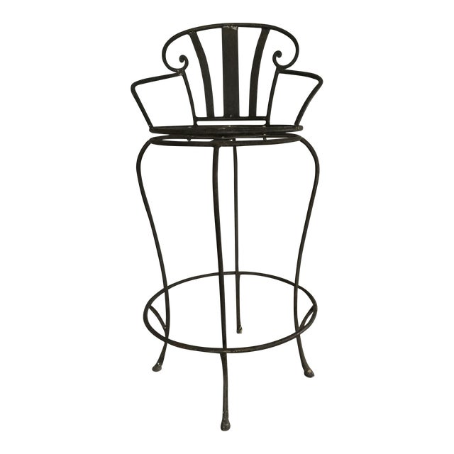 14 Italian Biedermeier-Style Bar Stool - Image 1 of 5