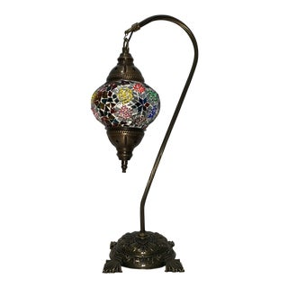 Turkish Mosaic Globe Table Lamp For Sale
