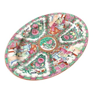 Chinoiserie Rose Medallion Platter For Sale
