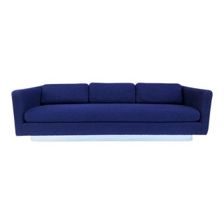 Milo Baughman for Forecast Tuxedo Sofa For Sale