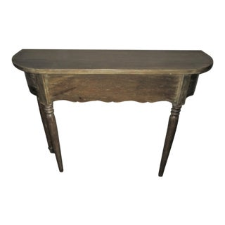 Sideboard Sofa Table Console DemiLune Vintage Style Reclaimed Wood Finish For Sale