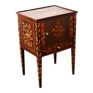 Early 19th Century Inlaid Marquetry Table Cupboard For Sale