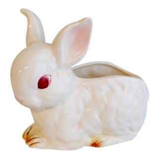 Vintage White Bunny Vase For Sale