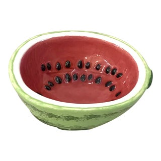 Small Watermelon Shaped Figural Snack Bowl