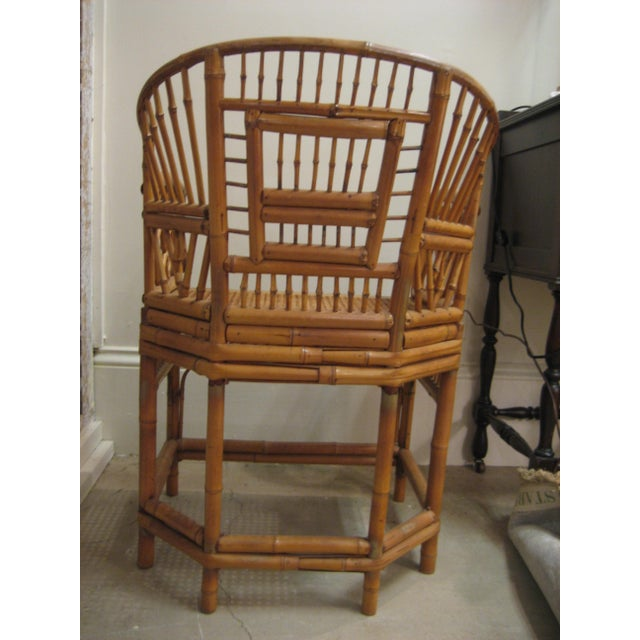 Pink 1970s Vintage Bamboo & Cane Chairs With Cushions - a Pair For Sale - Image 8 of 10