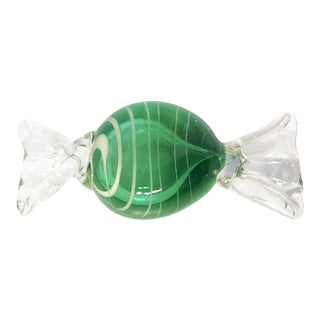1960s Vintage A. Seguso Italian Murano Handblown Candy Paperweight For Sale