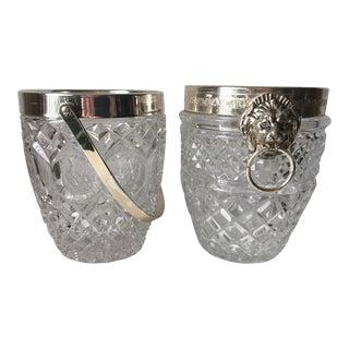 Vintage Crystal & Silver Biscuit Jars