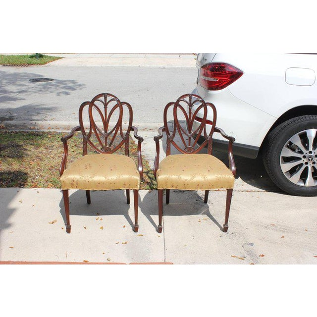 Wood 19th Century French Solid Mahogany Chairs- a Pair For Sale - Image 7 of 13
