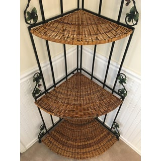 1960's Mid Century Modern Folding Wicker Shelves Preview