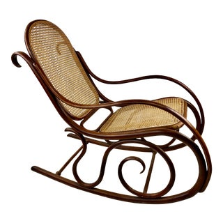 Vintage Thonet Bentwood Rocking Chair For Sale