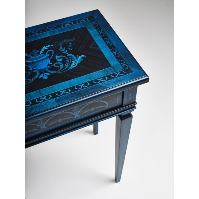 2010s Italian Marquetry Accent Table For Sale - Image 5 of 8