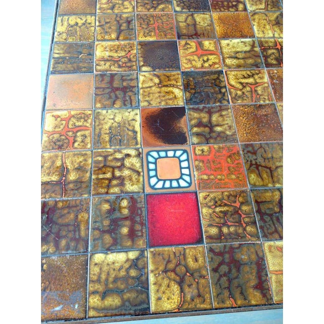 French 1960s Dining Table With Ceramic Tiled Top - Image 10 of 11
