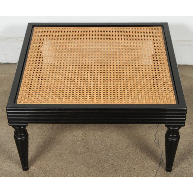 Late 20th Century Anglo-Indian Ebonized Ottoman or Side Table For Sale - Image 5 of 13