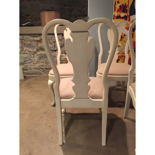 White Wood Dining Chairs - Set of 6 - Image 10 of 11