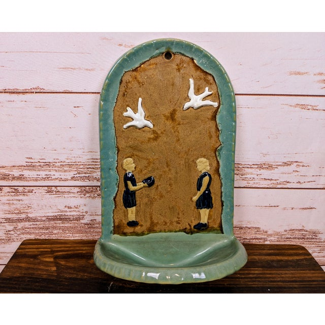 1930s Folk Art Hanging Art Pottery Fountain For Sale - Image 6 of 6