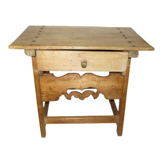 19th C. Spanish Pine Table For Sale