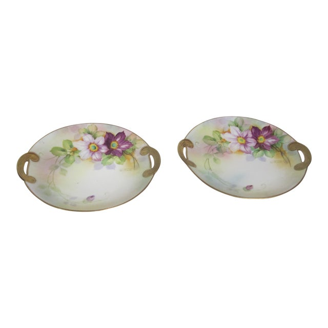 Nippon Floral Plates - A Pair For Sale