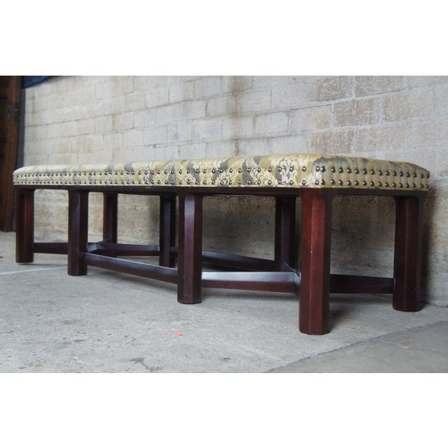 Gold Hickory Chair Mark Hampton Thomas O'Brein Trestle Bench For Sale - Image 8 of 13