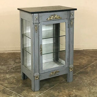 French Empire Painted Marble Top Vitrine, Ca. 1870 Preview