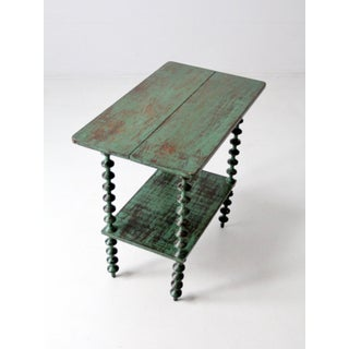 Antique Folk Art Spool Table Preview