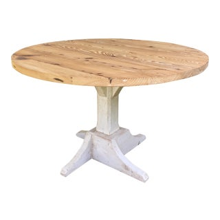 Distressed Round Barnwood Table For Sale