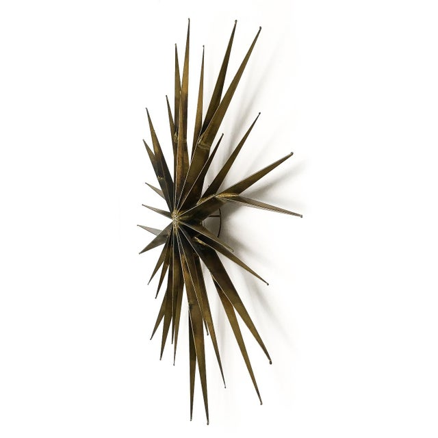 Curtis Jere Patinated Brass Branching Starburst Wall Sculpture, 1981 For Sale - Image 4 of 11
