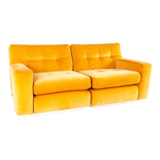 Jack Cartwright for Founders Mid Century Sectional Fiberglass Sofa For Sale